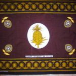 Kanga -Brown & Gold Traditional Design KG4