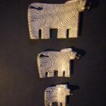 Soapstone Zebra Family – SPZ3