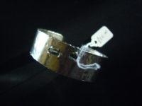 Jumali Hammered Silver Narrow Bangle – SABS3