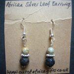 Silver Leaf Agate Earrings – ME3
