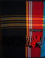 Kikoy – Black with Red Broad Stripe KK1