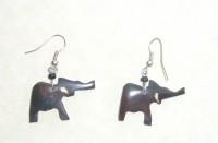 Bone Bead Elephant Earrings EA2