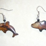 Bone Bead Dolphin Earrings EA5