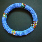 Masai Bead Blue Bangle MBG4