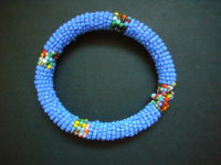 Masai Bead Blue Bangle MBG4