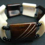 Bone Bead Stretch Bracelet BB3