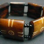 Bone Bead Stretch Bracelet BB1
