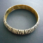Bangle – Zebra Pattern Narrow  BANGNZEB