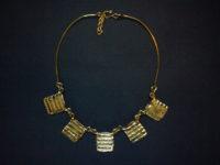 Creative Copper 'Stripes & Squares' Necklace SANC3
