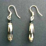 Bone Bead Droplet Earrings ED3