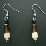 Bone Bead Droplet Earrings ED2