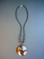 Coco Shell Disc Necklace NC1