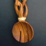 Olive Wood Twist Salad Servers SST1