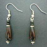 Bone Bead Droplet Earrings