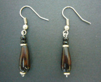 Bone Bead Droplet Earrings ED1
