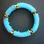 Masai Light Blue Bangle MBG7