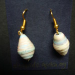 Earrings – Rolled Paper Bead (Uganda) EPD1