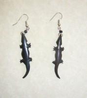 Bone Bead Gecko Earrings EA4