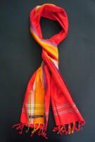 Long Kikoy Scarf – Red & Gold Broad Stripe KS2