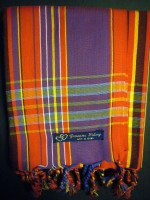 Long Kikoy Scarf – Red & Purple Narrow Stripe KS8
