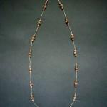 Long Batik & Metal Necklace – MN7