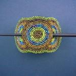 Beaded Hairclip – Green/Blue HCLIPB6