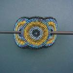 Beaded Hairclip – Black/Bronze Metallic HCLIPB5