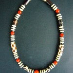 Mara Short Necklace with Amber Carnelian – MN2