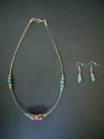 Trade Bead Necklace & Earrings Set – NTB1