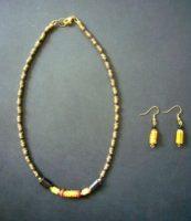 Trade Bead Necklace & Earrings Set – NTB4
