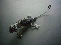 Masai Bead & Wire Gecko – GECKO2