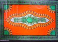 Kanga – Orange & Green Masala Design KG13