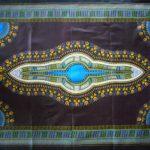 Kanga – Black & Turquoise Masala Design KG10