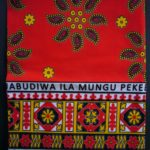 Kanga – Red, Black & Gold Traditional Design KG15