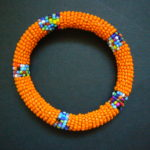 Masai Bead Orange Bangle – MB13