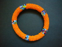 Masai Bead Orange Bangle – MBG13