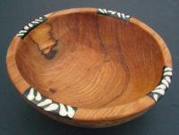 Small 8″ Olive Wood Circular Salad/Aperitif Bowl – WB8