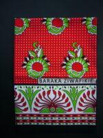 Kanga – Red & Green Traditional Design KG3