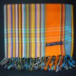 Kikoy – Orange Blue Multi KK16