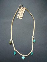 Turquoise & Leather Necklace – MN15
