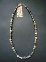 Silver Leaf Agate Necklace – MN11