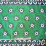Kanga – Light Green Traditional Design KG11