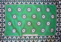 Kanga – Light Green Traditional Design KG11