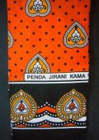 Kanga – Orange Traditional Design KG6