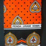 Kanga – Orange Traditional Design KG6