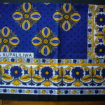 Kanga – Blue & Gold Traditional Design KG16