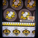 Kanga – Brown & White Traditional Design KG4