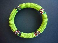 Masai Bead Lime Green Bangle – MBG2