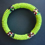Masai Bead Lime Green Bangle – MBG2