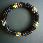 Masai Bead Black Bangle – MBG1